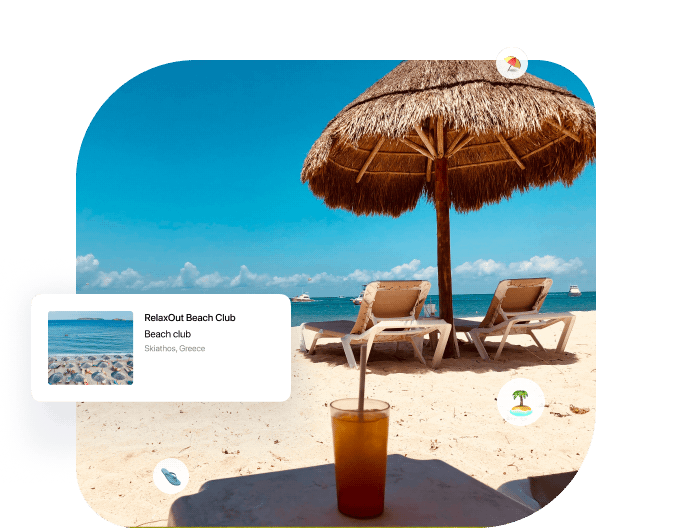 Booking system for beach clubs