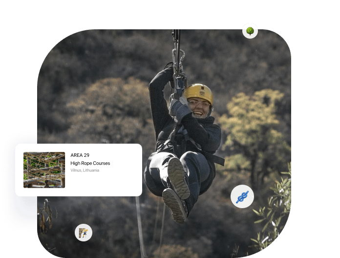 Online booking system for high rope courses